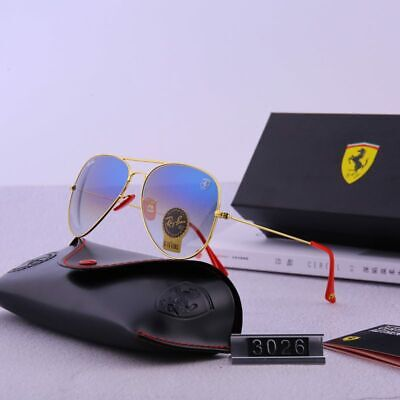 Gafas de sol Ferrari 3026 polarizadas DORADO/AZUL DEGRADADO