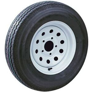 4 USED BOAT TRAILER TIRES & WHITE RIMS FOR SALE