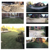 Intererlocking, sod installation, decks and fences