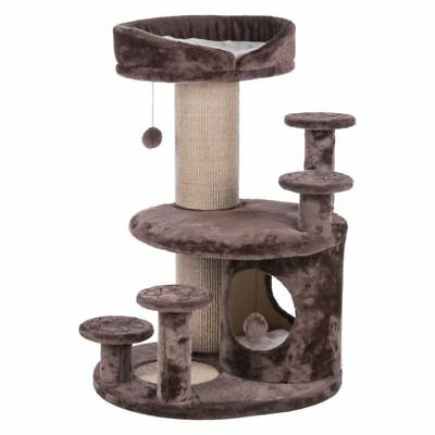 Best Cat Tree Plush Coated Brown Older Cats Lookout Towers Climbing Sisal (Best Cat Climbing Tower)