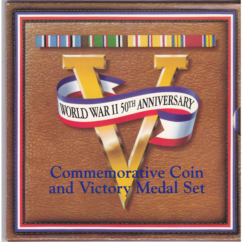 1993 WWII 50th Anniversary Commemorative Coin and Victory Medal Set