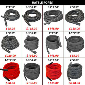 Battling Woven Nylon Covered Rope Crossfit Endurance Battle