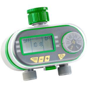 Royal Gardineer Digitaler Bewässerungscomputer BWC-200 mit 2 Anschlüssen