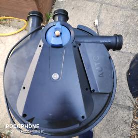 Pressure pond filter auto clean