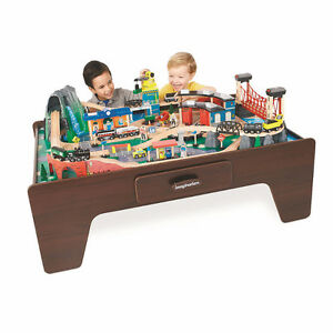 Imaginarium 100 + Piece Mountain Rock Train Table