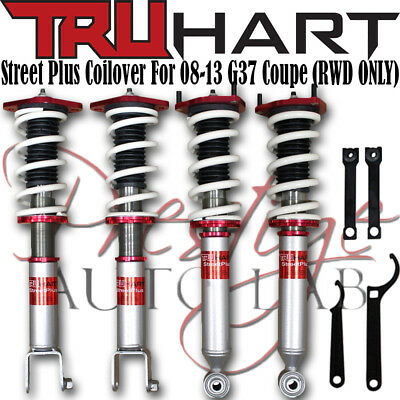 (TruHart Adjustable Streetplus Sport Coilovers Kit for Infiniti G37 2008-13 Coupe)