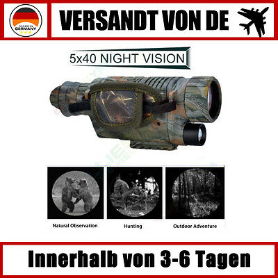 Infrarot Nacht Vision 5X40 Monokulare Fernglas Teleskope Scope Jagd Camping IP54