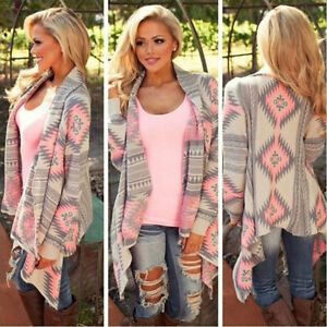 Pink and Grey Cardigan