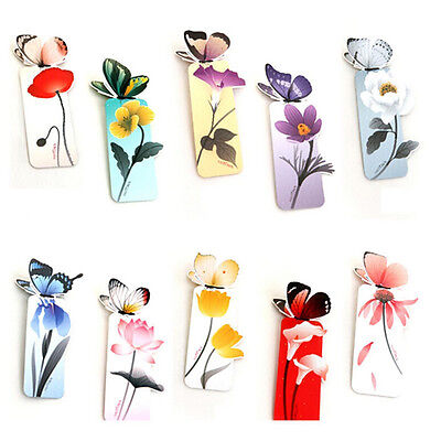 4X Cute Bookmark Butterfly Style Teachers Gift Book Marker Stationery Studentna
