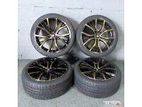 "18"" San Diego Style Alloy Wheels will fit VW Passat, Jetta, Golf MK5, MK6, MK7, Caddy, Seat Leon Etc"