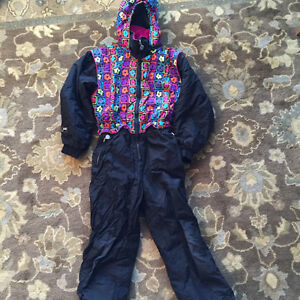 Girls Jupa Size 10 one piece ski snowboard suit insulated