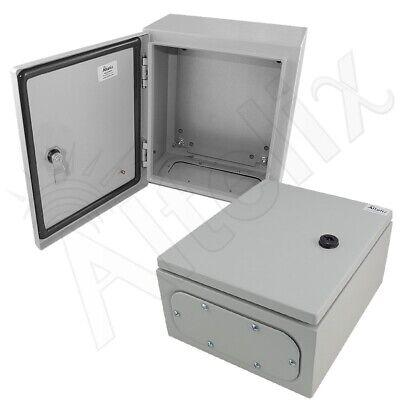 Altelix 12x10x6 Nema 4x Steel Weatherproof Enclosure With Steel Mounting Plate