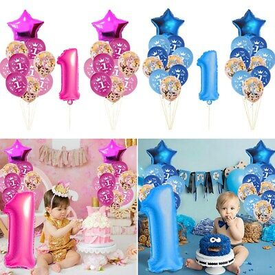 First 1st Birthday Number 1 Boy Girl Foil Balloon Baby Party Decoration Balloons - First Birthday Balloon