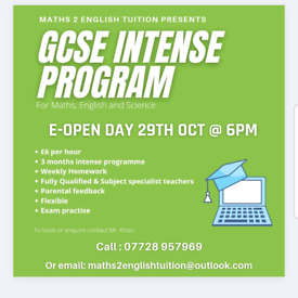 GCSE programme for community Maths English and Science