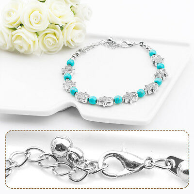 Wholesale Cheap Fashion Bohemian Turquoise Stone Woman's Bracelet Chain 24cm (Cheap Bracelet)