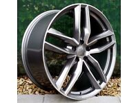 "19"" Gunmetal Polished RS6-C Style Alloys for an Audi B8 & B9 Audi A4 ETC"