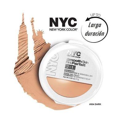 NYC 2 en 1 Maquillaje y Corrector Compact Foundation Concealer Light