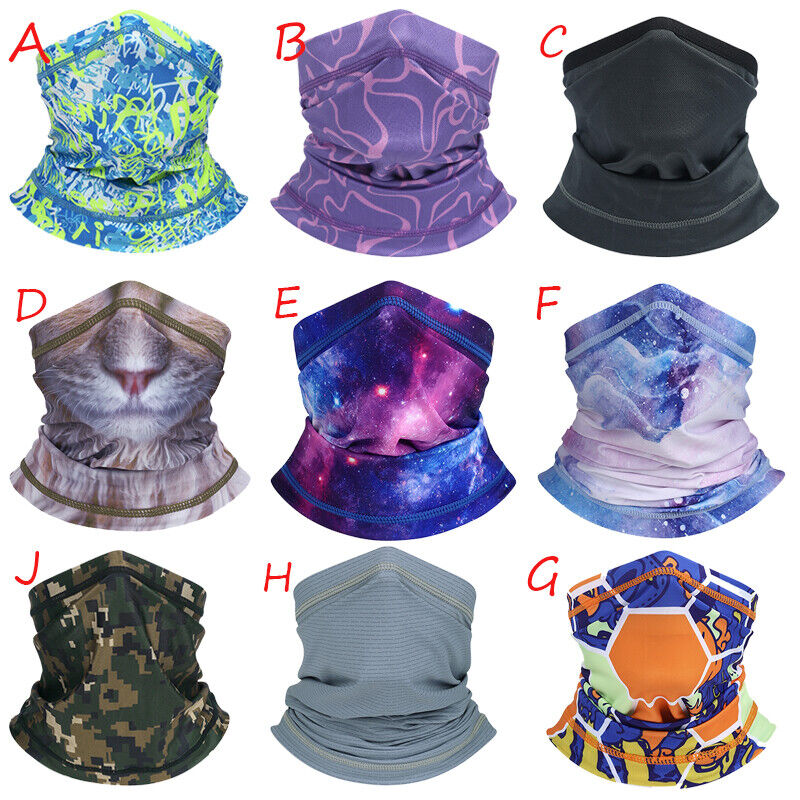 1/3/5Pack Sun UV Protection Face Cover Scarf Mask Neck Gaiter Breathable Bandana Clothing, Shoes & Accessories