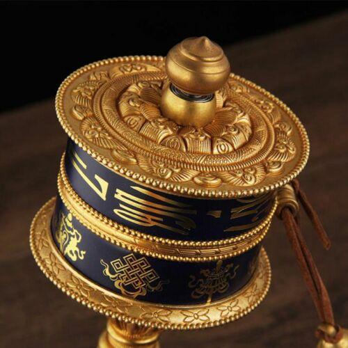 "26cm 10.34"" copper hand turn Prayer wheel Om Mani Padme Hum Praying Wheel lucky"