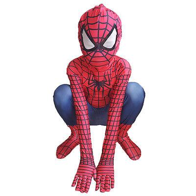 Amazing SpiderMan Zentai Suit For Kids Halloween Party Superhero Cosplay Costume
