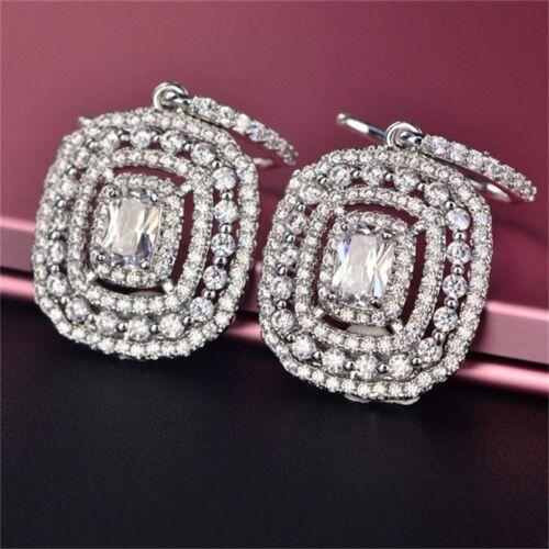 Eardrop Earrings S925 Silver Topaz Elegant Pink Wedding Xmas Gifts For Her Women 3