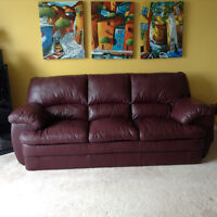 Genuine Leather Couch & Chair $400