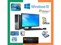 Desktop,PC, Core 2 Duo ,I3,I5 and 17' Monitor including Dell branded Key board,mouse,