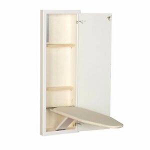 New White Prefinished in-Wall Ironing Board