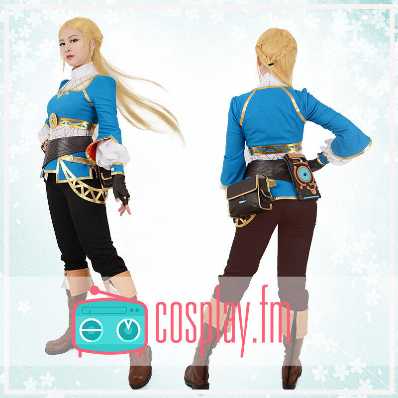 Details About The Legend Of Zelda Breath Of The Wild Princess Zelda Cosplay Costume