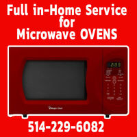 Microwave ovens repair and in-home service