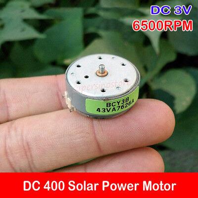 Dc 3v 6500rpm 400 Solar Power Motor Toy Micro Motor Diy Accessories Fan Boat