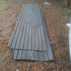4 Sheets of Used Steel Roof in great shape. $50.00 Firm.