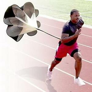 Running Power Chute Speed Training Resistance Exercise Parachute Black E5