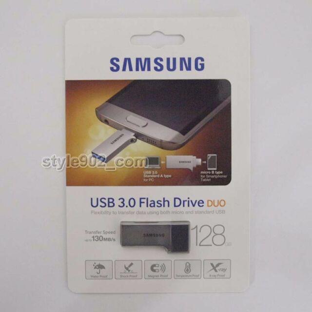 Original Samsung 128GB MUF-128CB USB 3.0 Duo Flash Drive OTG Memory
