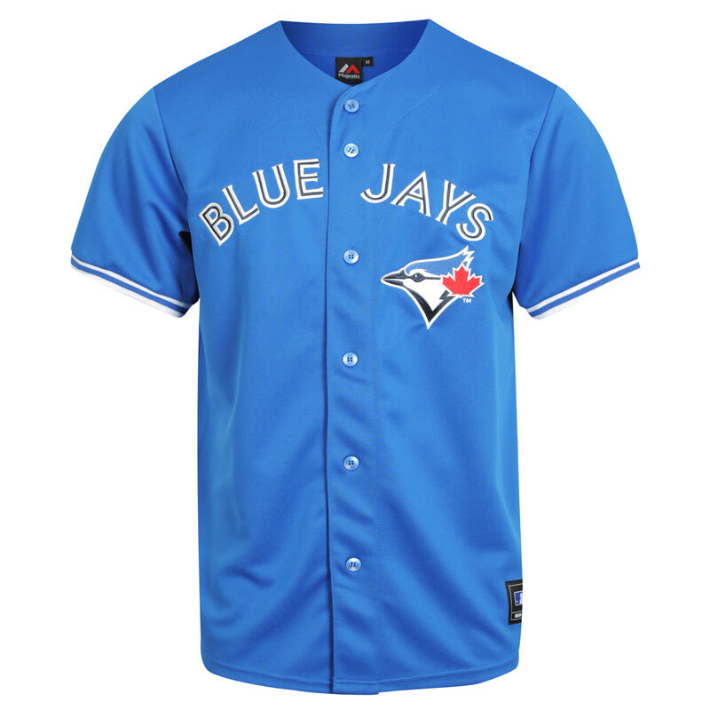 pretty nice 0cd43 db0f1 Details about Majestic MLB Toronto Blue Jays Alternate Replica Jersey -  Royal