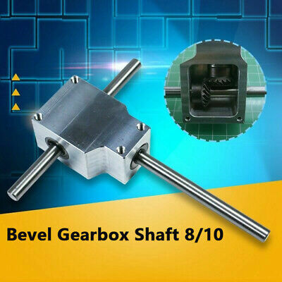 90 Right Angle Gearbox Speed Reducer Transmission Ratio 11 Shaft 8mm Diy Parts