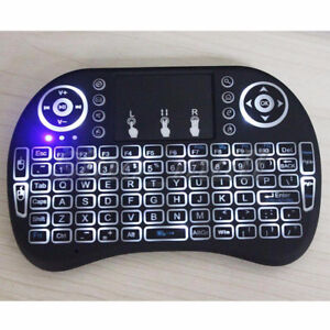 Ri i8 Wireless mini Keyboard Backlight air Mouse With Touchpad