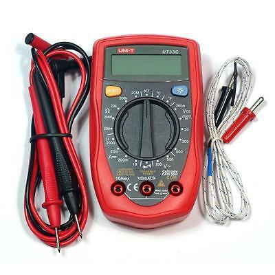 Uni-t Ut33c Handheld Digital Multimeter Ac Dc Volt Temperature Tester Meter