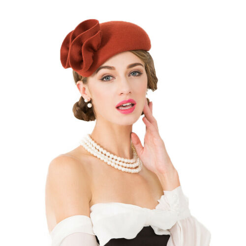 Ladies Felt Wool Fascinator Cocktail Formal Wedding Bridal Hat Headpiece CK010