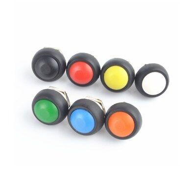 12mm Waterproof 2 Pin Momentary Onoff Push Button Mini Round Spst Switch