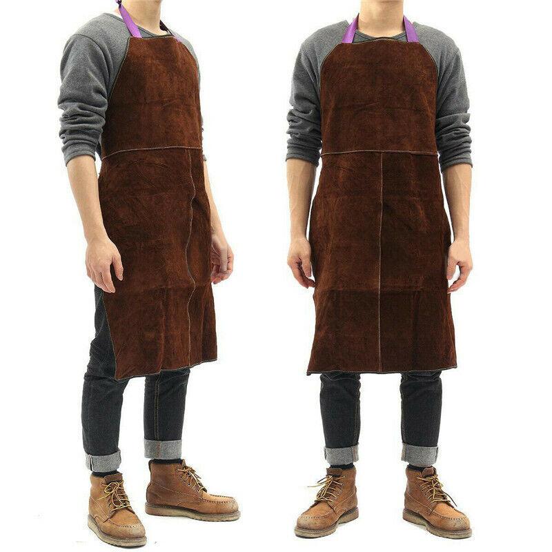 "24""x35""Cow Leather Welding Welder Apron Heat Resistant Blacksmith Mechanic Smock"