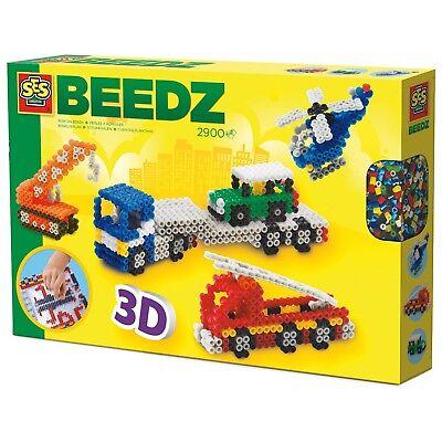 SES 06253 midi Bügelperlen Set 3D FAHRZEUGE Große Geschenkpackung