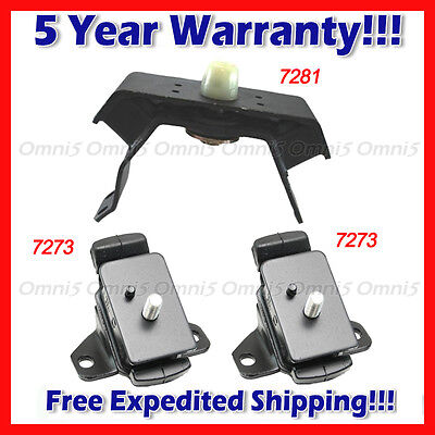 - L978 Fits 2000-2004 Toyota Tacoma 3.4L 4WD Engine Motor & Trans Mount Set MANUAL