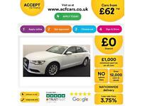 White AUDI A6 AVANT ESTATE 2.0 3.0 TDI Diesel SPORT S LINE FROM £62 PER WEEK!