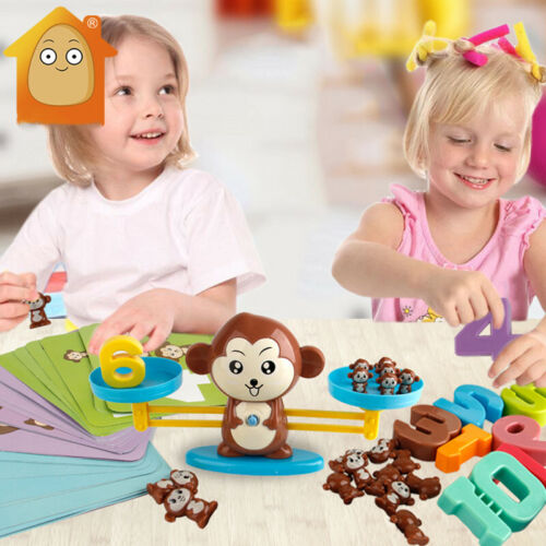 Monkey Digital Balance Scale Toy Early Learning Balance Children Enlightenment Educational