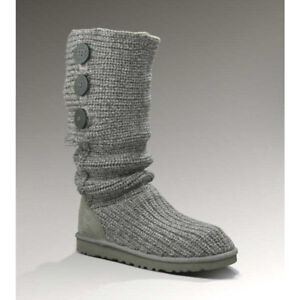 Grey cable knit uggs! AUTHENTIC!