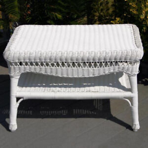 New Sahara white wicker outdoor coffee table