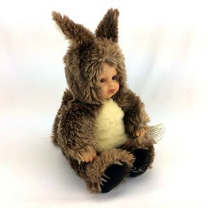 Anne Geddes Doll Plush Baby In Squirrel Costume Plastic Head