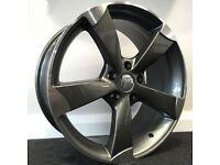 "19"" TTRS Style - Gloss Concave Alloy Wheels & Tyres. Suit Audi A4, A5 & A6. (5x112)"