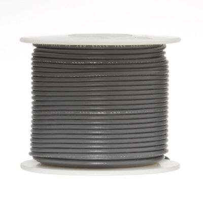 30 Awg Gauge Stranded Hook Up Wire Gray 250 Ft 0.0100 Ptfe 600 Volts